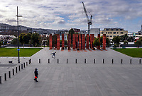 Pukeahu National War Memorial Park at 1pm, Monday during Level 4 lockdown for the COVID-19 pandemic in Wellington, New Zealand on Monday, 30 August 2021.