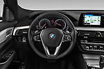 Car pictures of steering wheel view of a 2018 BMW 6 series gran turismo Sport 5 Door Hatchback