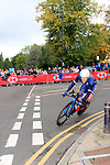 Benjamin Thomas (FRA) in action during the Men Elite Individual Time Trial of the UCI World Championships 2019 running 54km from Northallerton to Harrogate, England. 25th September 2019.<br /> Picture: Andy Brady | Cyclefile<br /> <br /> All photos usage must carry mandatory copyright credit (© Cyclefile | Andy Brady)