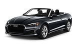 2020 Audi A5-Cabriolet Premium 2 Door Convertible Angular Front automotive stock photos of front three quarter view