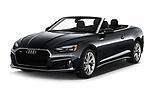2020 Audi A5-Cabriolet Premium 2 Door Convertible Angular Front automotive stock photos of front three quarter view