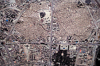 An overhead view of the Old City of Kashgar, Xinjiang, China, seen in a public display of government plans to redevelop the section.