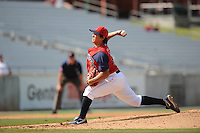 Hung-Wen Chen Pitcher Tennessee Smokies (Chicago Cubs) delivers a pitch during the Southern League Playoffs at Smokies Park in Sevierville, TN September 13, 2009 (Photo by Tony Farlow/ Four Seam Images)