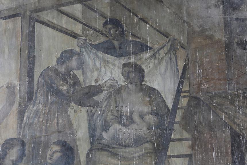 Napoli, Mostra d'Oltremare, Cubo d'oro<br />  Giovanni Brancaccio, Il trionfo dell'impero di Roma, affresco, 1939-40,