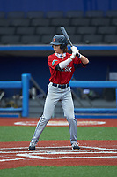 Nick Parham of TC Roberson High School (NC) playing for the Red Sox scout team during the South Atlantic Border Battle Futures Game at Truist Point on September 25, 2020 in High Pont, NC. (Brian Westerholt/Four Seam Images)