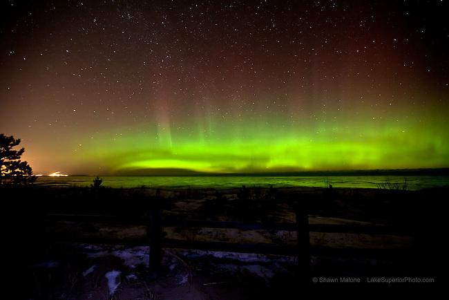 aurora northern lights over Marquette Michigan winter 2012 aurora borealis northern lights in the upper peninsula of michigan
