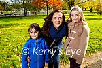Donnacha, Laura and Micheala Brosnan enjoying a stroll around the town park on Tuesday.