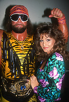 """Randy """"Macho Man"""" Savage and his manager Miss Elizabeth 1991 Photo by Adam Scull-PHOTOlink.net"""