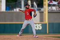 Springfield Cardinals pitcher Merandy Gonzalez (38) during a Texas League game against the Frisco RoughRiders on May 5, 2019 at Dr Pepper Ballpark in Frisco, Texas.  (Mike Augustin/Four Seam Images)