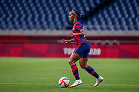 SAITAMA, JAPAN - JULY 24: Crystal Dunn #2 of the United States during a game between New Zealand and USWNT at Saitama Stadium on July 24, 2021 in Saitama, Japan.