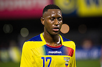 Jaime Ayovi (17) of Ecuador. Ecuador defeated Chile 3-0 during an international friendly at Citi Field in Flushing, NY, on August 15, 2012.