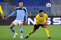 Joaquin Correa of SS Lazio and Mats Hummels of Borussia Dortmund during the Champions League Group Stage F day 1 football match between SS Lazio and Borussia Dortmund at Olimpic stadium in Rome (Italy), October, 200 Italy, 2020. Photo Andrea Staccioli / Insidefoto