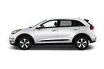Car Driver side profile view of a 2018 KIA Niro FE 5 Door Hatchback Side View