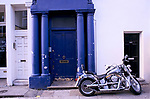 The Blue Door that was used in the film Notting Hill staring Hugh Grant. Westbourne Park Road, Notting Hill, London W11. 1999 1990s UK