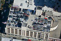 aerial photograph 1395 Van Ness Street, Ellis Brooks Chevrolet roof top parking San Francisco, California