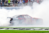 2017 NASCAR Xfinity Series<br /> My Bariatric Solutions 300<br /> Texas Motor Speedway, Fort Worth, TX USA<br /> Saturday 8 April 2017<br /> Erik Jones, Game Stop/ GAEMS Toyota Camry, does a burnout after winning.<br /> World Copyright: John K Harrelson/LAT Images<br /> ref: Digital Image 17TEX1jh_02843