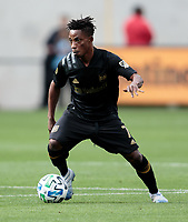 LOS ANGELES, CA - MARCH 01: Latif Blessing #7 of the LAFC during a game between Inter Miami CF and Los Angeles FC at Banc of California Stadium on March 01, 2020 in Los Angeles, California.
