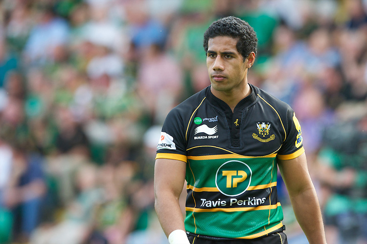 Ken Pisi of Northampton Saints during the Aviva Premiership match between Northampton Saints and Exeter Chiefs at Franklin's Gardens on Sunday 9th September 2012 (Photo by Rob Munro)