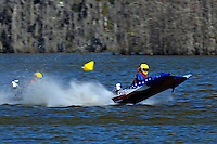 Frame 4: 1-US goes for a wild ride.   (outboard hydroplane)