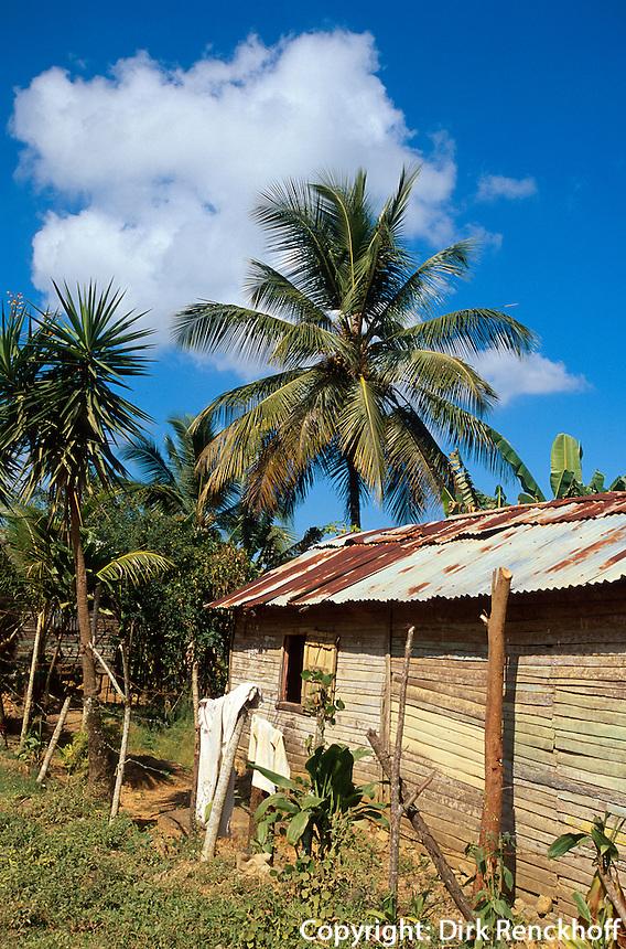 Dominikanische Republik, Hütte bei Miches