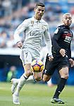 Real Madrid's Cristiano Ronaldo (l) and Granada CF's Gabriel Silva during La Liga match. January 7,2016. (ALTERPHOTOS/Acero)