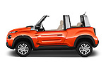 Car Driver side profile view of a 2016 Citroen E-Mehari 3 Door Convertible Side View