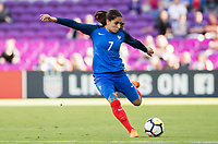 Orlando City, FL - Wednesday March 07, 2018: Amel Majri during a 2018 SheBelieves Cup match between the women's national teams of Germany (GER) and France (FRA) at Orlando City Stadium.