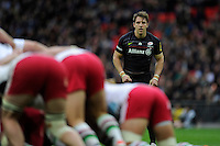 Man of the Match Chris Wyles of Saracens looks on