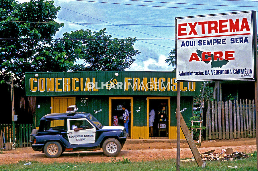 Policiamento em Extrema, Rondônia. 1987. Foto de Cynthia Brito.