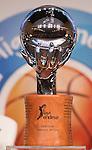The trophy during presentation of the Liga Endesa playoff. May 23,2016. (ALTERPHOTOS/Rodrigo Jimenez)