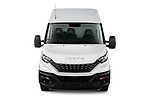 Car photography straight front view of a 2021 Iveco Daily - 4 Door Cargo Van Front View