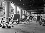 Niagara Falls, New York:  Sarah Stewart relaxing on the Pavilion.
