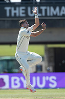 Tim Southee, New Zealand bowling from the hotel end during India vs New Zealand, ICC World Test Championship Final Cricket at The Hampshire Bowl on 23rd June 2021