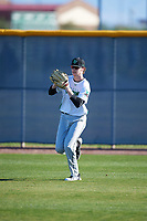 Michael Hohlfeld (13) of Boyertown Area Senior High School in Schwensksville, Pennsylvania during the Baseball Factory All-America Pre-Season Tournament, powered by Under Armour, on January 13, 2018 at Sloan Park Complex in Mesa, Arizona.  (Mike Janes/Four Seam Images)