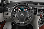 Steering wheel view of a 2009 Toyota Venza