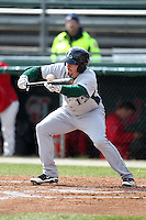 Lexington Legends first baseman Tyler Burnett #12 attempts a bunt during a game against the Hagerstown Suns at Municipal Park on April 11, 2012 in Hagerstown, Maryland.  Lexington defeated Hagerstown 3-0.  (Mike Janes/Four Seam Images)