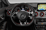 Car pictures of steering wheel view of a 2019 Mercedes Benz CLA Coupe 45 AMG 4 Door Sedan