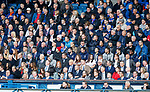 05.05.2019 Rangers v Hibs: Rangers players and fans