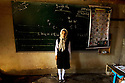 Iraq 2010.In Hoshyari, former Awbarek, near Penjwen, a schoolgirl at the blackboard during an English lesson