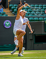 London, England, 11 July, 2019, Tennis,  Wimbledon, Mixed Doubles: Zhaoxuan Yang (CHN) and Matwe Middelkoop (NED) <br /> Photo: Henk Koster/tennisimages.com
