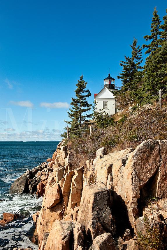 Bass Harbor Light, Bass Harbor, Acadia National Park, Maine, ME, USA