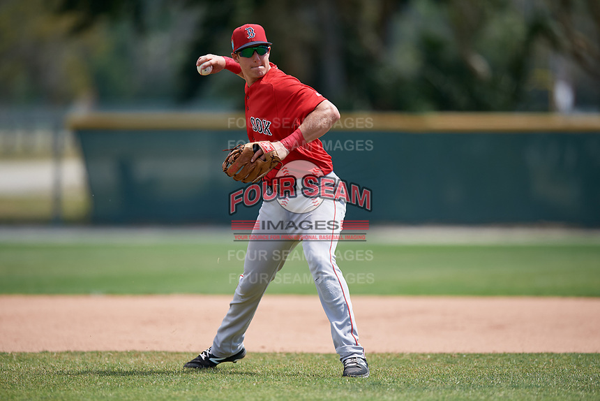 Boston Red Sox Michael Osinski (40) during a Minor League Spring Training game against the Baltimore Orioles on March 20, 2018 at Buck O'Neil Complex in Sarasota, Florida.  (Mike Janes/Four Seam Images)