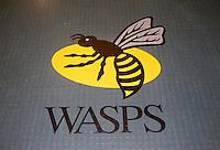 Photo: Richard Lane/Richard Lane Photography. Wasps v London Irish. Aviva Premiership. 21/12/2014. Wasps' first game at the Ricoh Arena as their new home. Wasps signage.