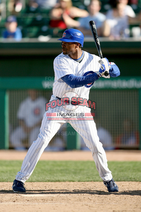 February 29, 2008: Bobby Scales of the Chicago Cubs at Hohokam Park during spring training in Mesa, AZ. Photo by:  Chris Proctor/Four Seam Images