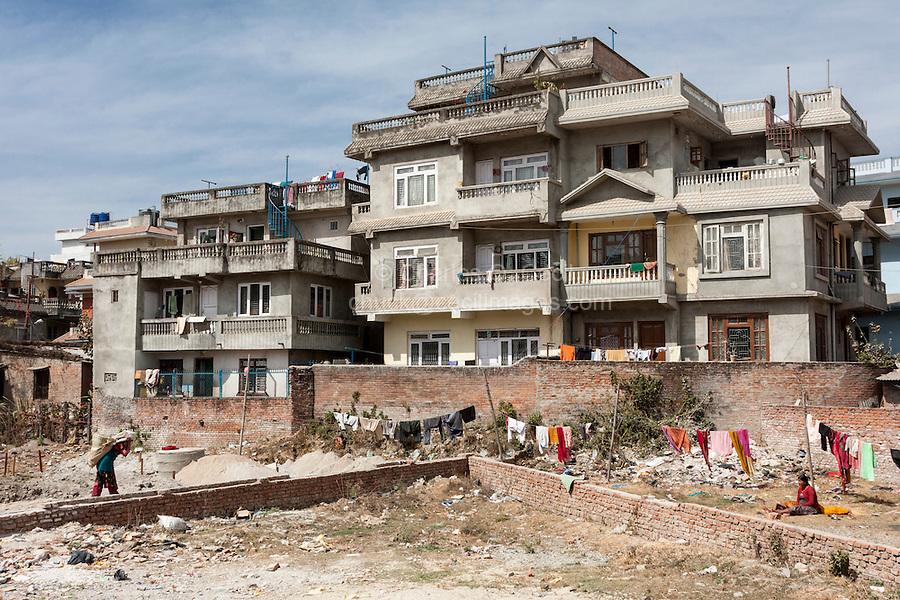 Bodhnath, Nepal.  New Multi-storied Housing.
