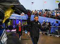Columbus, Ohio - Thursday March 01, 2018: Christen Press during a 2018 SheBelieves Cup match between the women's national teams of the United States (USA) and Germany (GER) at MAPFRE Stadium.