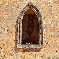 An old window in Kato Chora at Kythera island, Greece