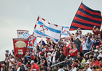 16 May 09: Chicago Fire fans show their support during action at BMO Field in a game between the Chicago Fire and Toronto FC..Chicago Fire won 2-0..