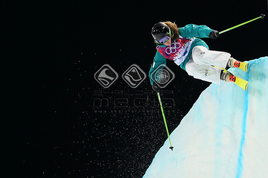 Amy Sheehan (AUS)<br /> Freestyle Skiing - Halfpipe finals<br /> Rosa Khutor  X-treme Park, Rosa Khutor<br /> 2014 Sochi Winter Olympics - Russia<br /> 20.02.2014 Sochi, Krasnodar Krai, Russia. <br /> © Sport the library / Yohei Osada