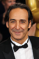 HOLLYWOOD, LOS ANGELES, CA, USA - MARCH 02: Alexandre Desplat at the 86th Annual Academy Awards held at Dolby Theatre on March 2, 2014 in Hollywood, Los Angeles, California, United States. (Photo by Xavier Collin/Celebrity Monitor)
